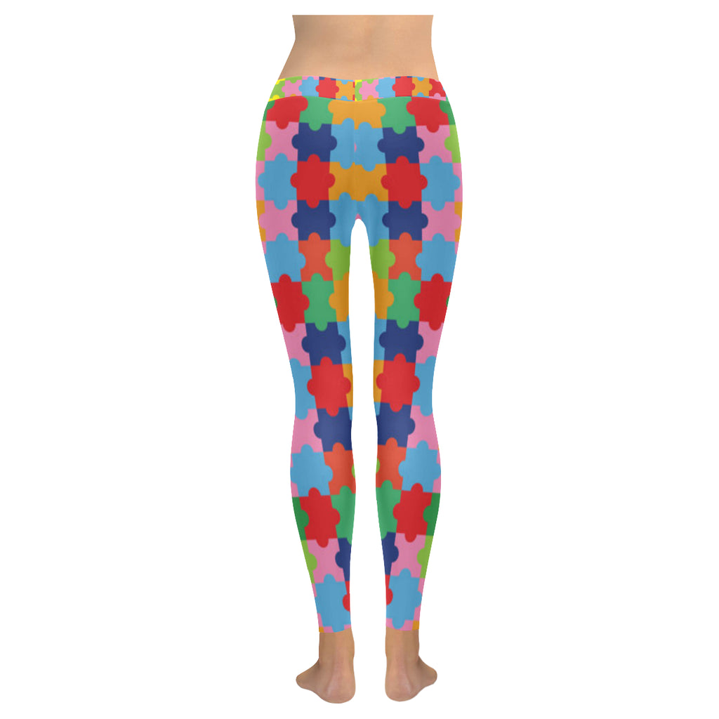 Autism Low Rise Leggings (Model L05) - TeeAmazing