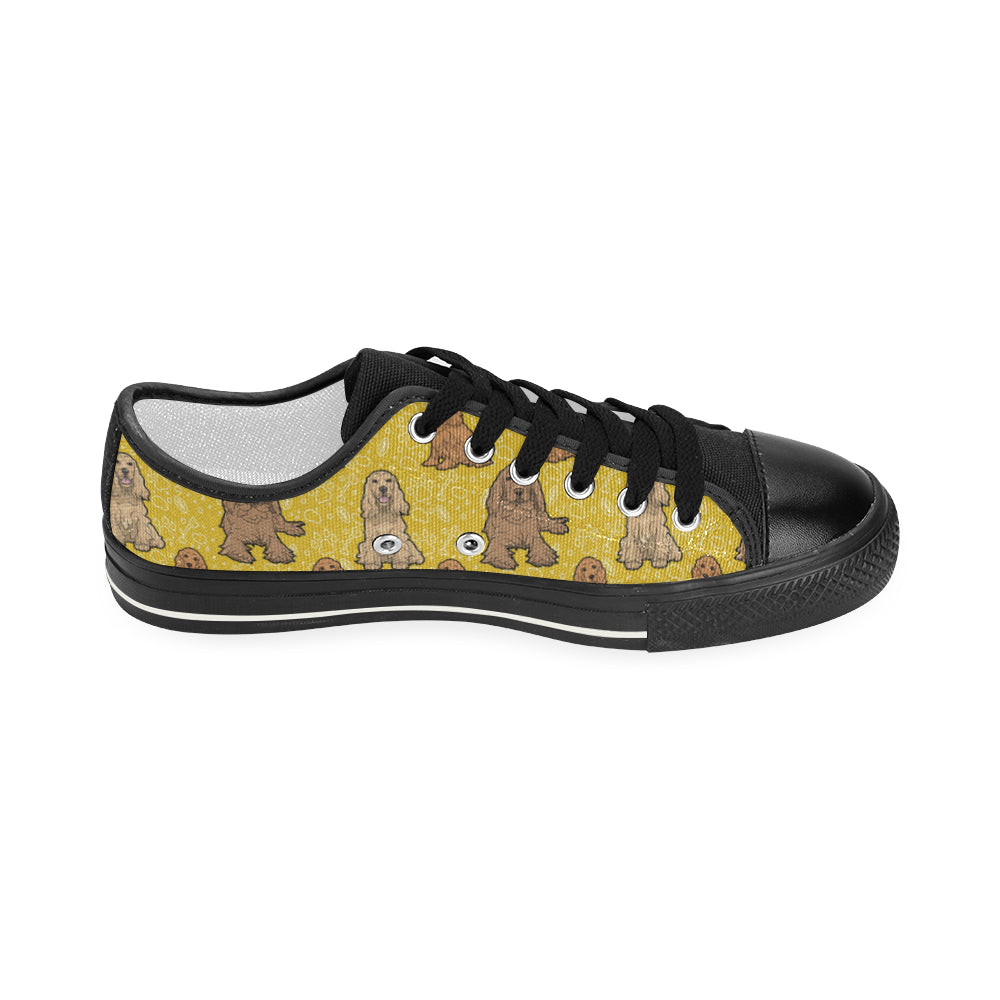 Cocker Spaniel Black Women's Classic Canvas Shoes - TeeAmazing