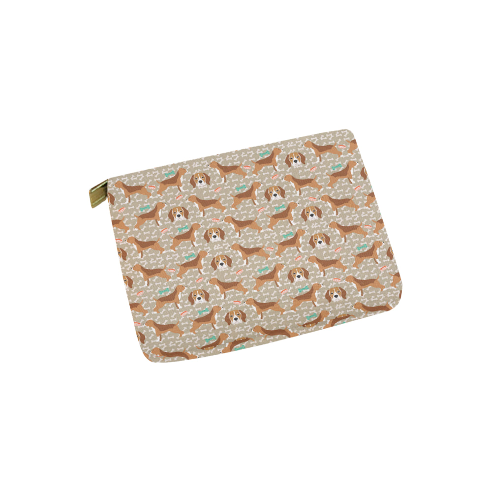 Beagle Pattern Carry-All Pouch 6x5 - TeeAmazing