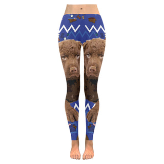 Chesapeake Bay Retriever Dog Low Rise Leggings (Invisible Stitch) (Model L05) - TeeAmazing