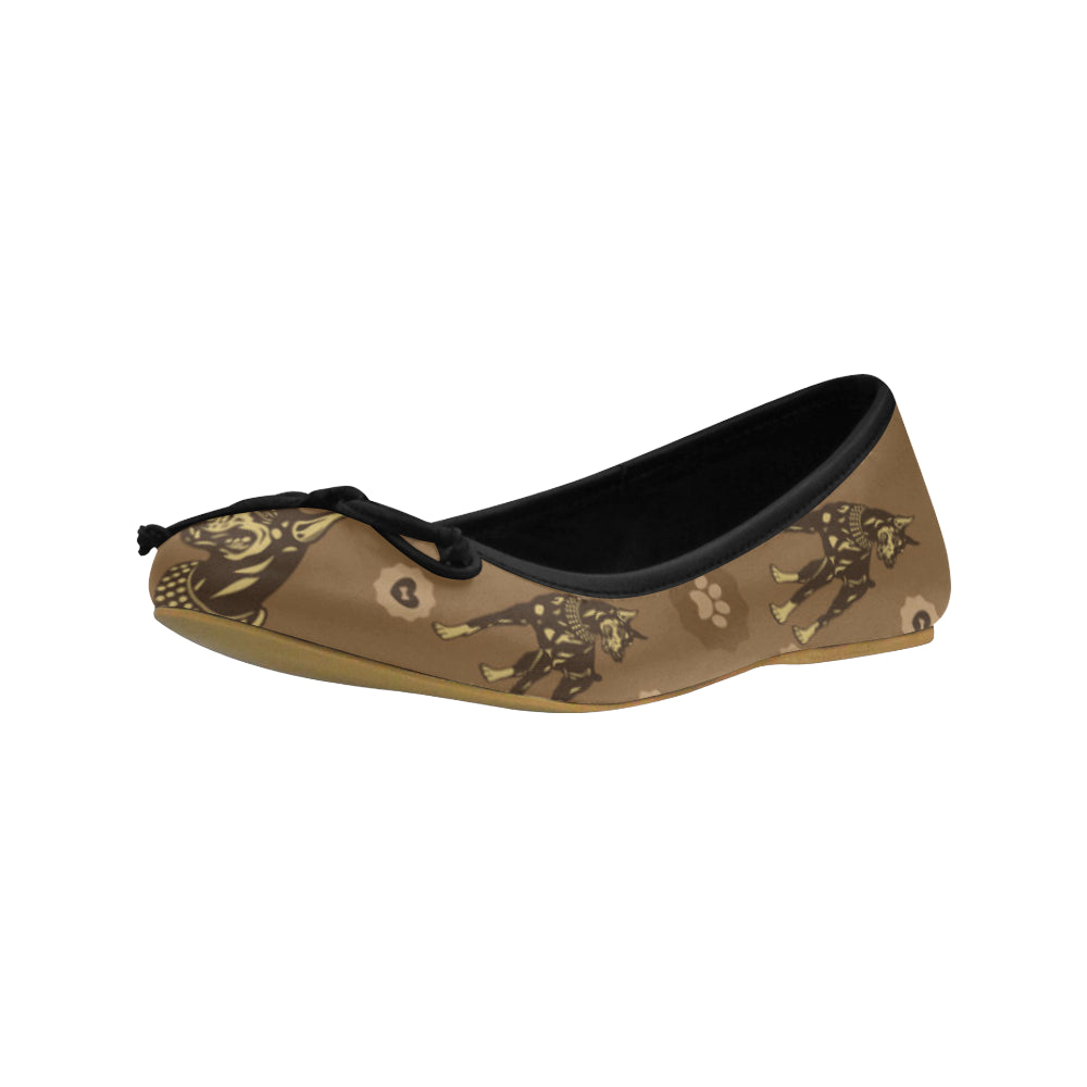 Doberman Juno Ballet Pumps - TeeAmazing