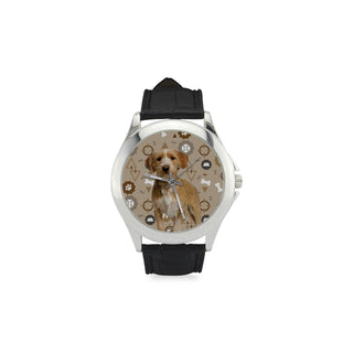 Basset Fauve Dog Women's Classic Leather Strap Watch - TeeAmazing
