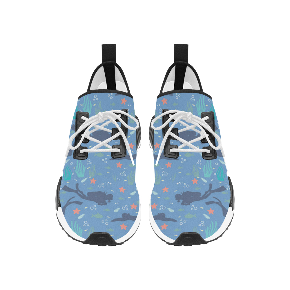 Scuba Diving Pattern Women's Draco Running Shoes - TeeAmazing