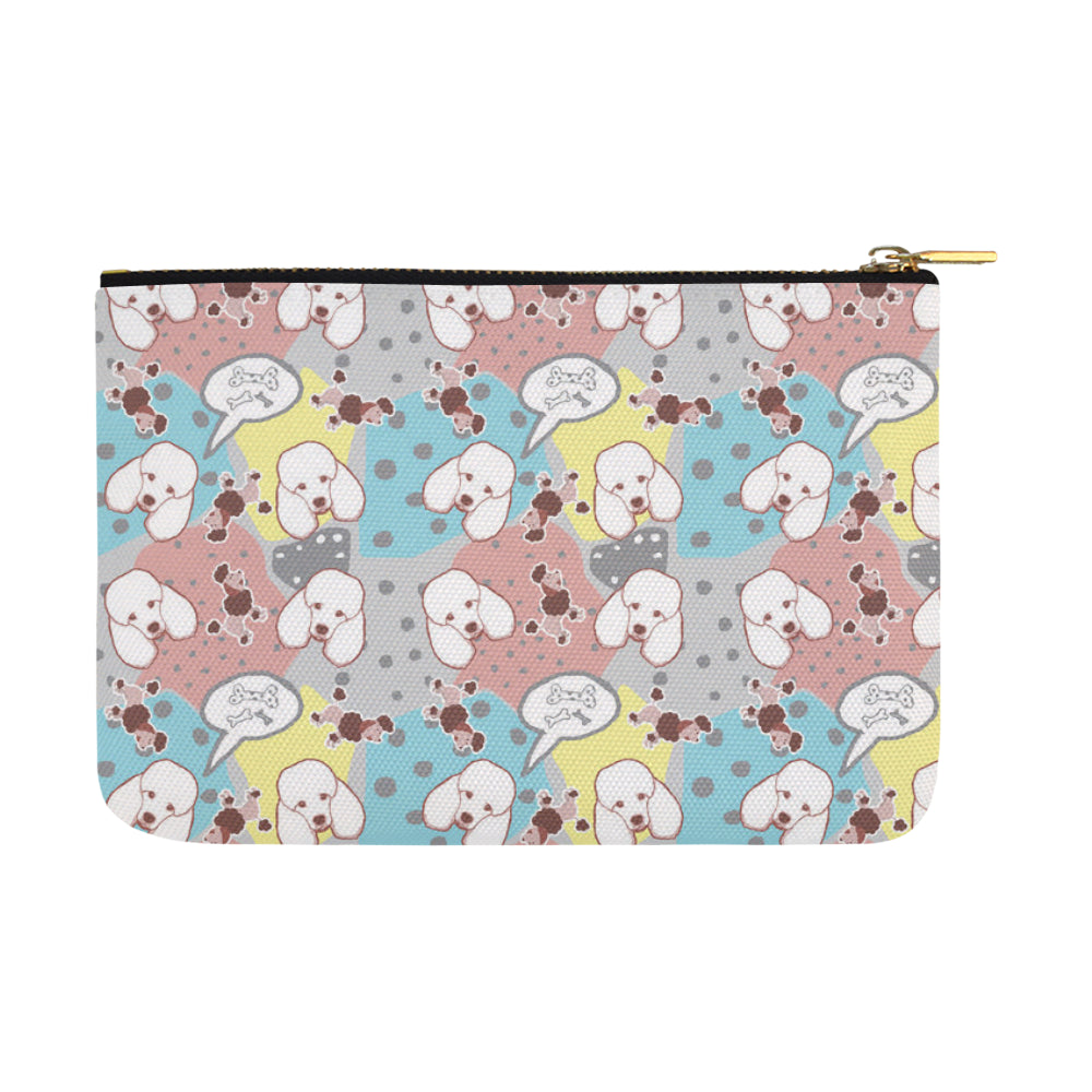 Poodle Pattern Carry-All Pouch 12.5x8.5 - TeeAmazing