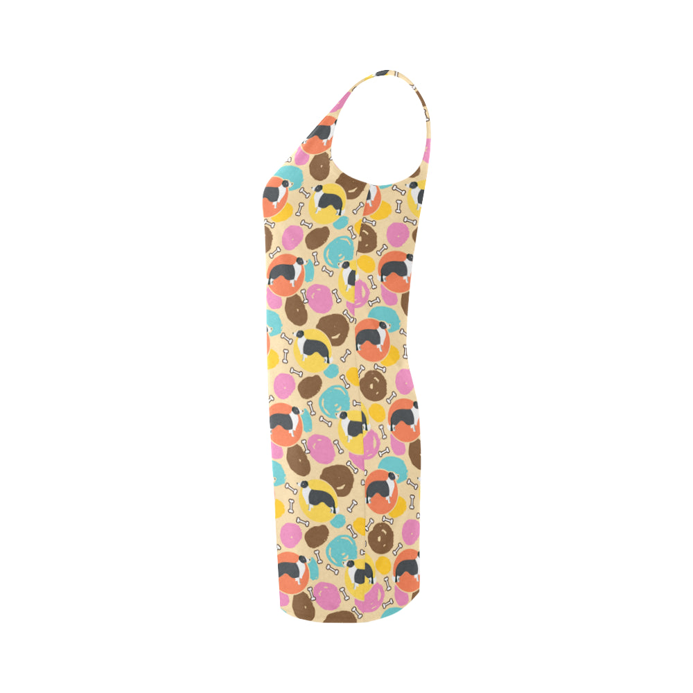 Border Collie Pattern Medea Vest Dress - TeeAmazing