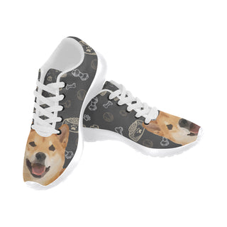 Shiba Inu Dog White Sneakers for Men - TeeAmazing