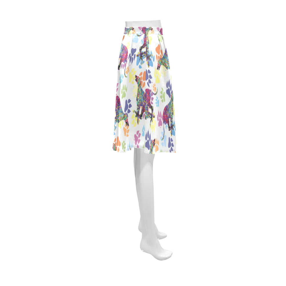 Greyhound Running Pattern No.1 Athena Women's Short Skirt - TeeAmazing