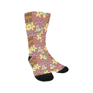Labradoodle Flower Trouser Socks - TeeAmazing