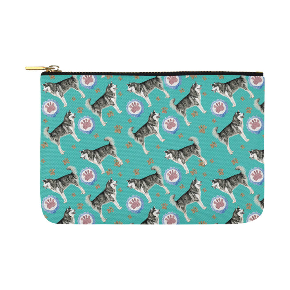 Alaskan Malamute Water Colour Pattern No.1 Carry-All Pouch 12.5x8.5 - TeeAmazing