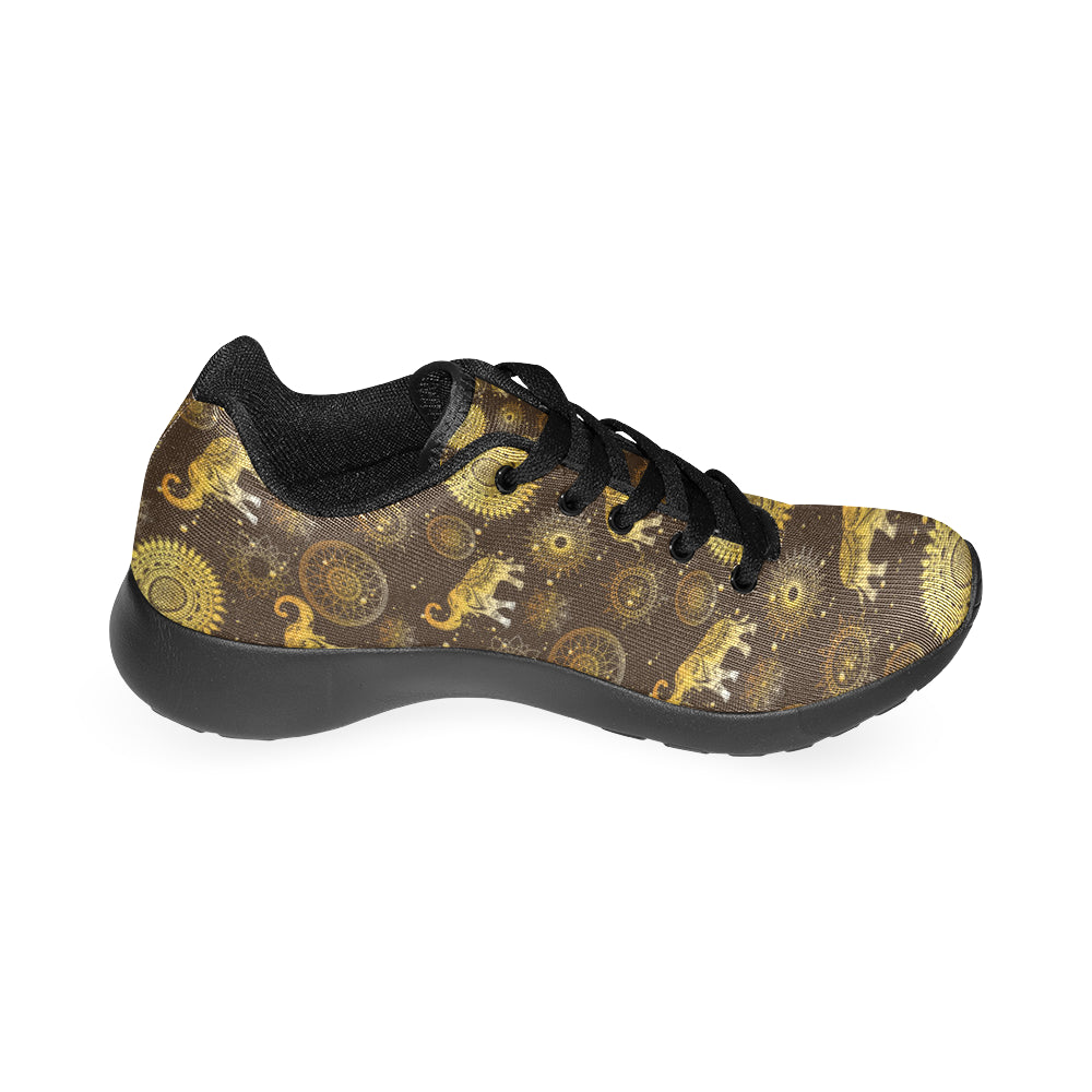 Elephant and Mandalas Black Sneakers Size 13-15 for Men - TeeAmazing