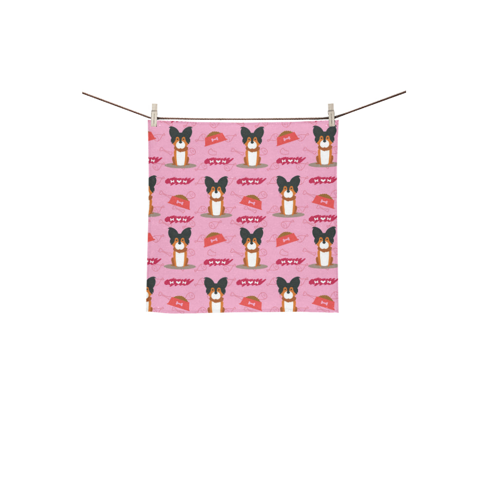 Papillon Pattern Square Towel 13x13 - TeeAmazing