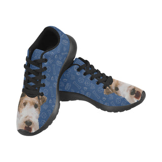 Wire Hair Fox Terrier Dog Black Sneakers Size 13-15 for Men - TeeAmazing