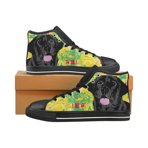 Black Lab Women's Classic High Top Canvas Shoes