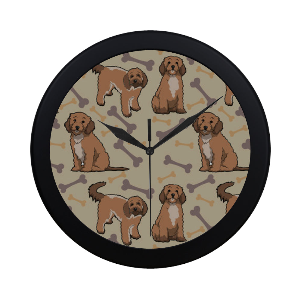 Cockapoo ฺBlack Circular Plastic Wall clock - TeeAmazing