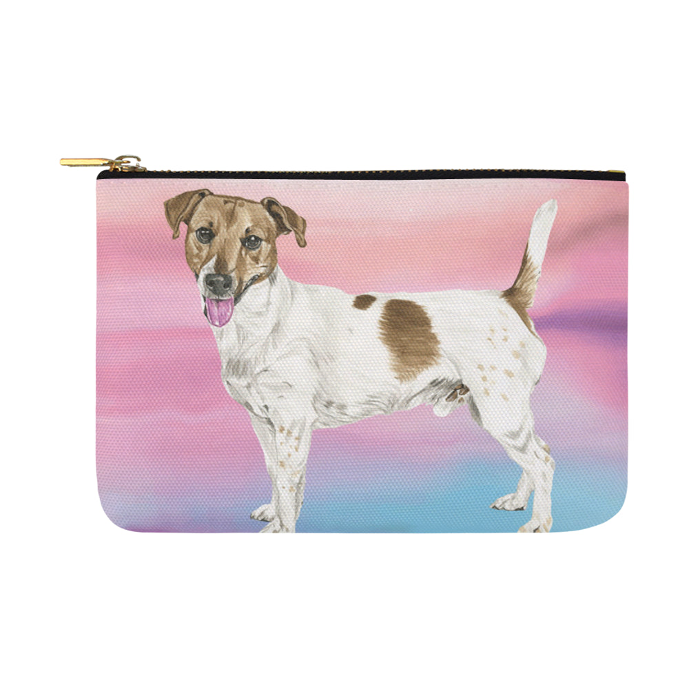 Jack Russell Terrier Water Colour No.1 Carry-All Pouch 12.5x8.5 - TeeAmazing