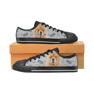 Chow Chow Dog Black Low Top Canvas Shoes for Kid - TeeAmazing