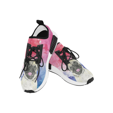 Pug Water Colour Women's Draco Running Shoes