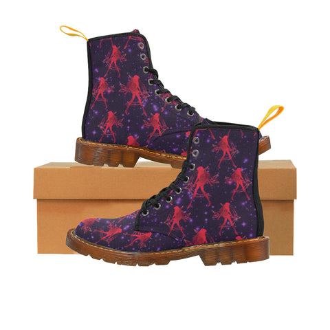 Sailor Mars Black Martin Boots For Women - TeeAmazing