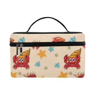 Hermit Crab Pattern Cosmetic Bag/Large - TeeAmazing