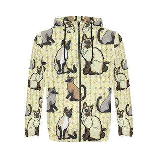 Siamese All Over Print Full Zip Hoodie for Men (Model H14) - TeeAmazing