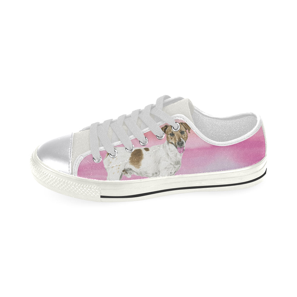 Jack Russell Terrier Water Colour No.1 White Canvas Women's Shoes/Large Size - TeeAmazing