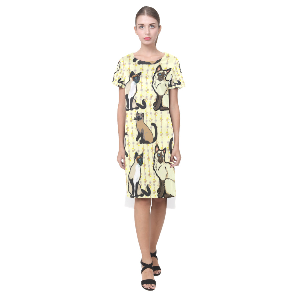 Siamese Short Sleeves Casual Dress(Model D14) - TeeAmazing