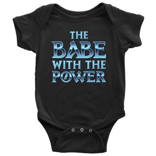 The Babe With The Power Baby Onesie - Labyrinth Shirts - TeeAmazing