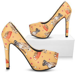 Boxer Dog High Heels - Custom High Heels for Women - TeeAmazing