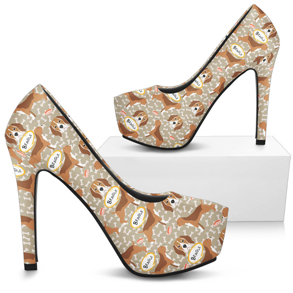 Beagle High Heels - Custom High Heels for Women - TeeAmazing