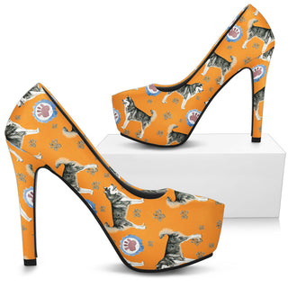 Alaskan Malamute Dog High Heels - Custom High Heels for Women - TeeAmazing