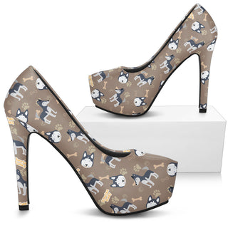 Siberian Husky High Heels - Custom High Heels for Women - TeeAmazing