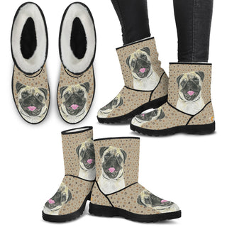 Women's Pug Fur Boots - Custom Winter Boots - TeeAmazing
