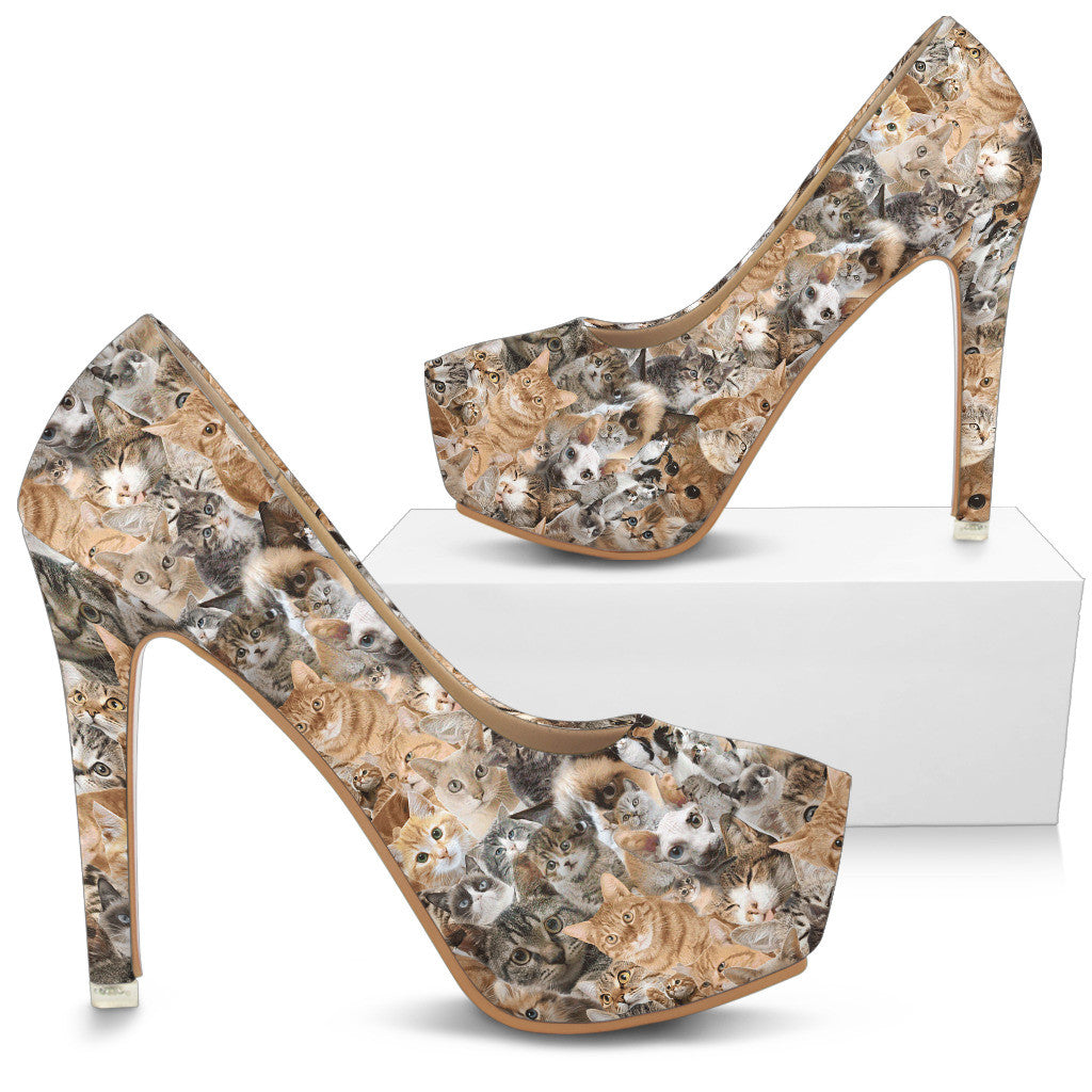 Cat High Heels - Custom High Heels for Women - TeeAmazing