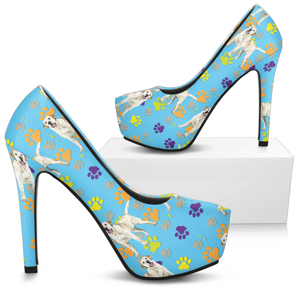 Labrador Retriever Water Colour Pattern No.1 High Heels - Custom High Heels for Women - TeeAmazing