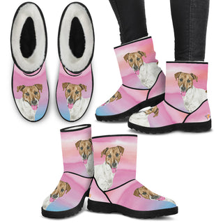 Women's Jack Russell Fur Boots - Custom Winter Boots - TeeAmazing