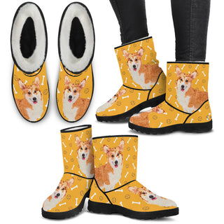 Women's Corgi Fur Boots - Custom Winter Boots - TeeAmazing