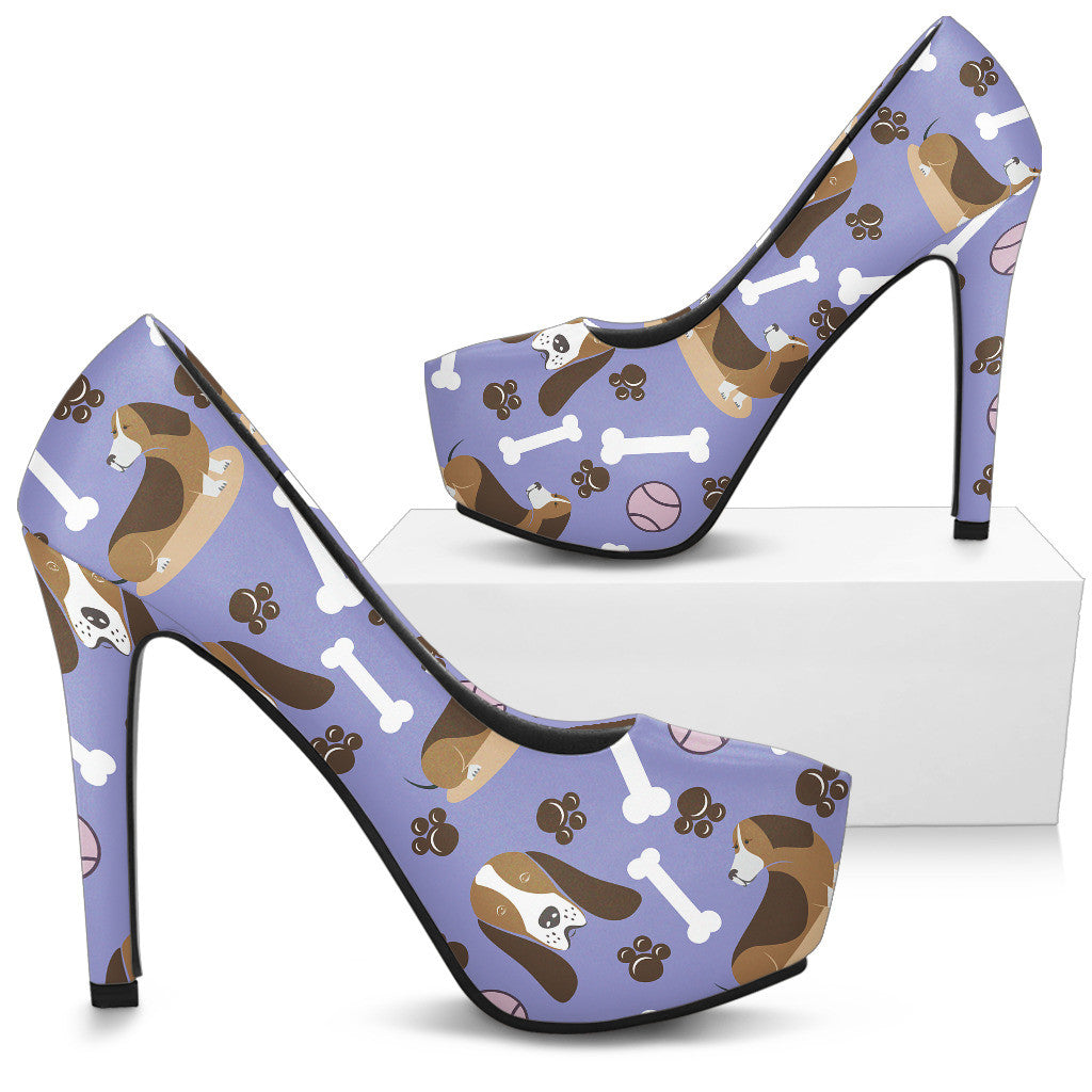 Basset Hound High Heels - Custom High Heels for Women - TeeAmazing