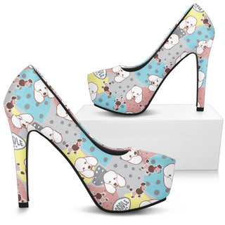 Poodle High Heels - Custom High Heels for Women - TeeAmazing