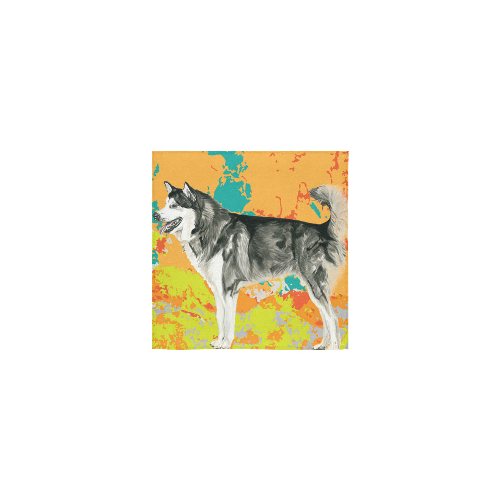 Alaskan Malamute Water Colour No.2 Square Towel 13x13 - TeeAmazing