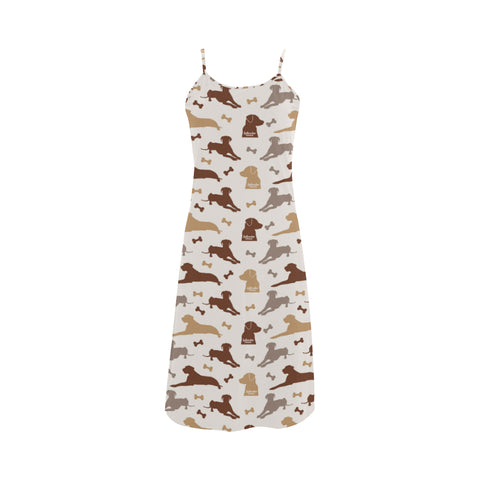 Labrador Retriever Pattern Alcestis Slip Dress - TeeAmazing