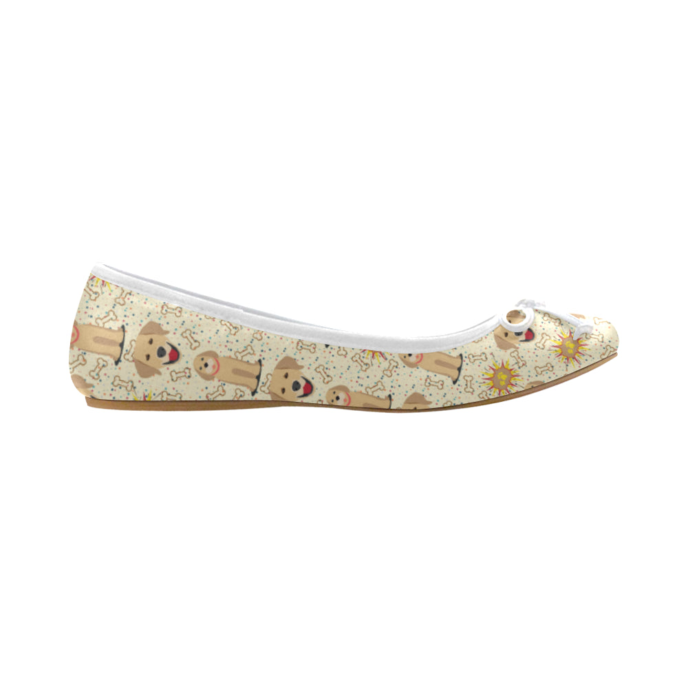 Golden Retriever Pattern Juno Ballet Pumps - TeeAmazing