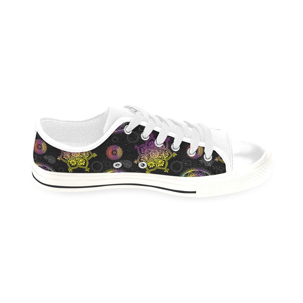 Chakra White Men's Classic Canvas Shoes/Large Size - TeeAmazing
