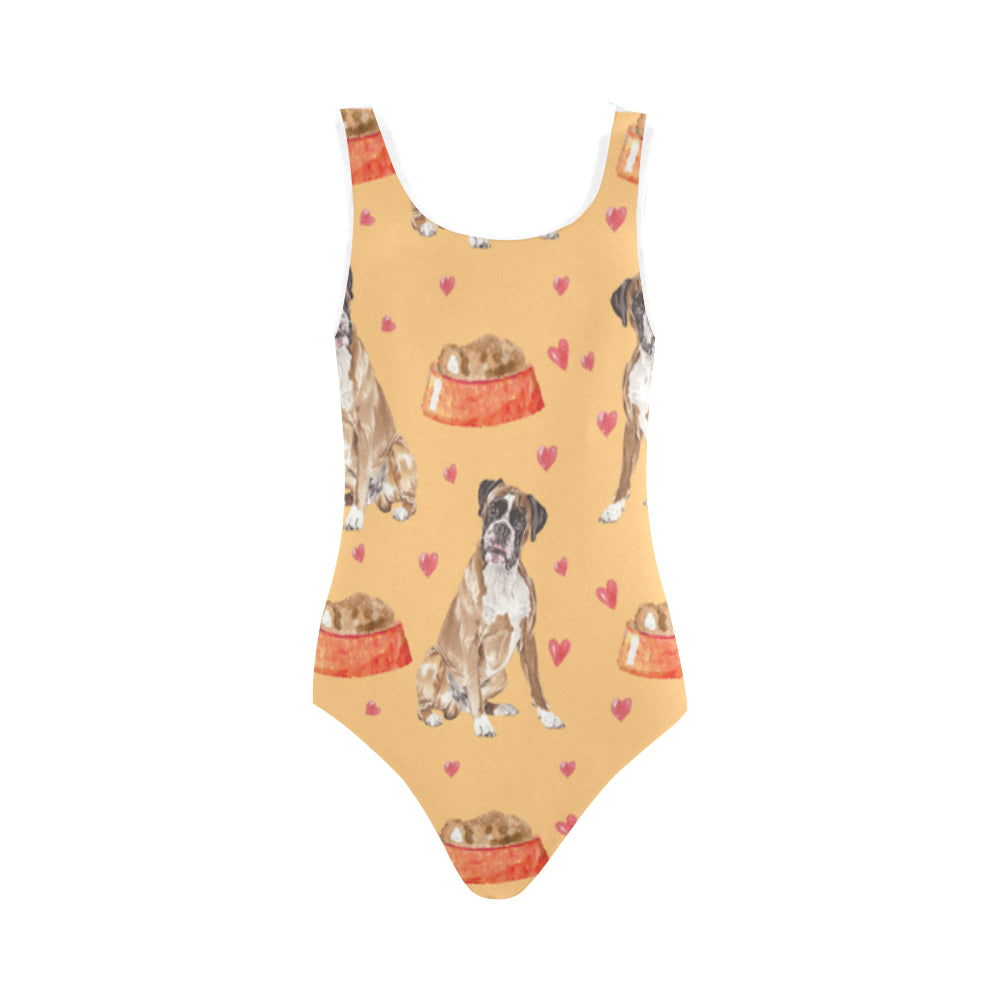 Boxer Water Colour Pattern No.1 Vest One Piece Swimsuit - TeeAmazing