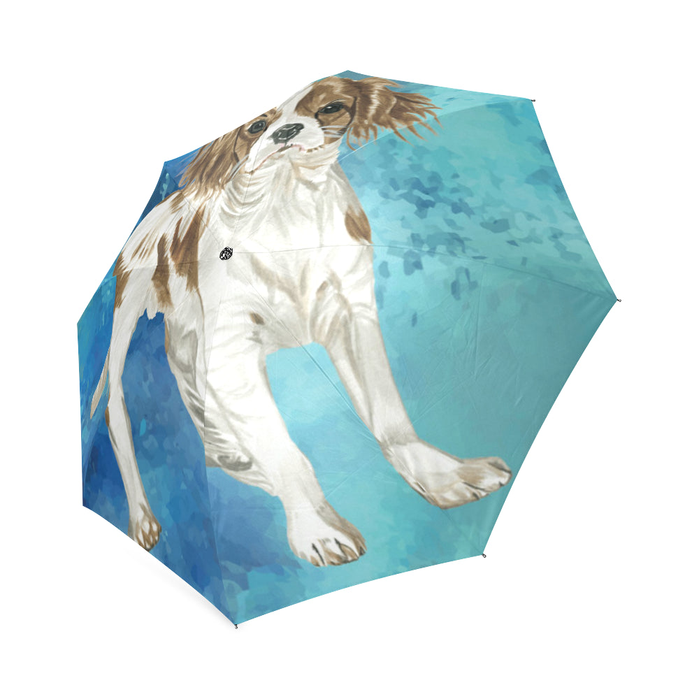 Cavalier King Charles Spaniel Water Colour No.1 Foldable Umbrella - TeeAmazing