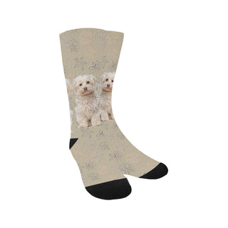 Maltese Lover Trouser Socks - TeeAmazing