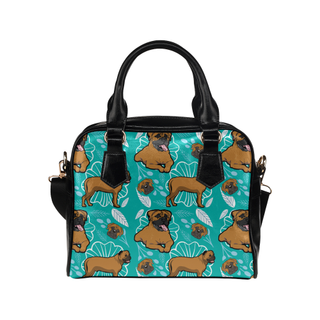 Bullmastiff Flower Shoulder Handbag - TeeAmazing