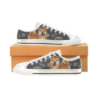 Shiba Inu Dog White Canvas Women's Shoes/Large Size - TeeAmazing