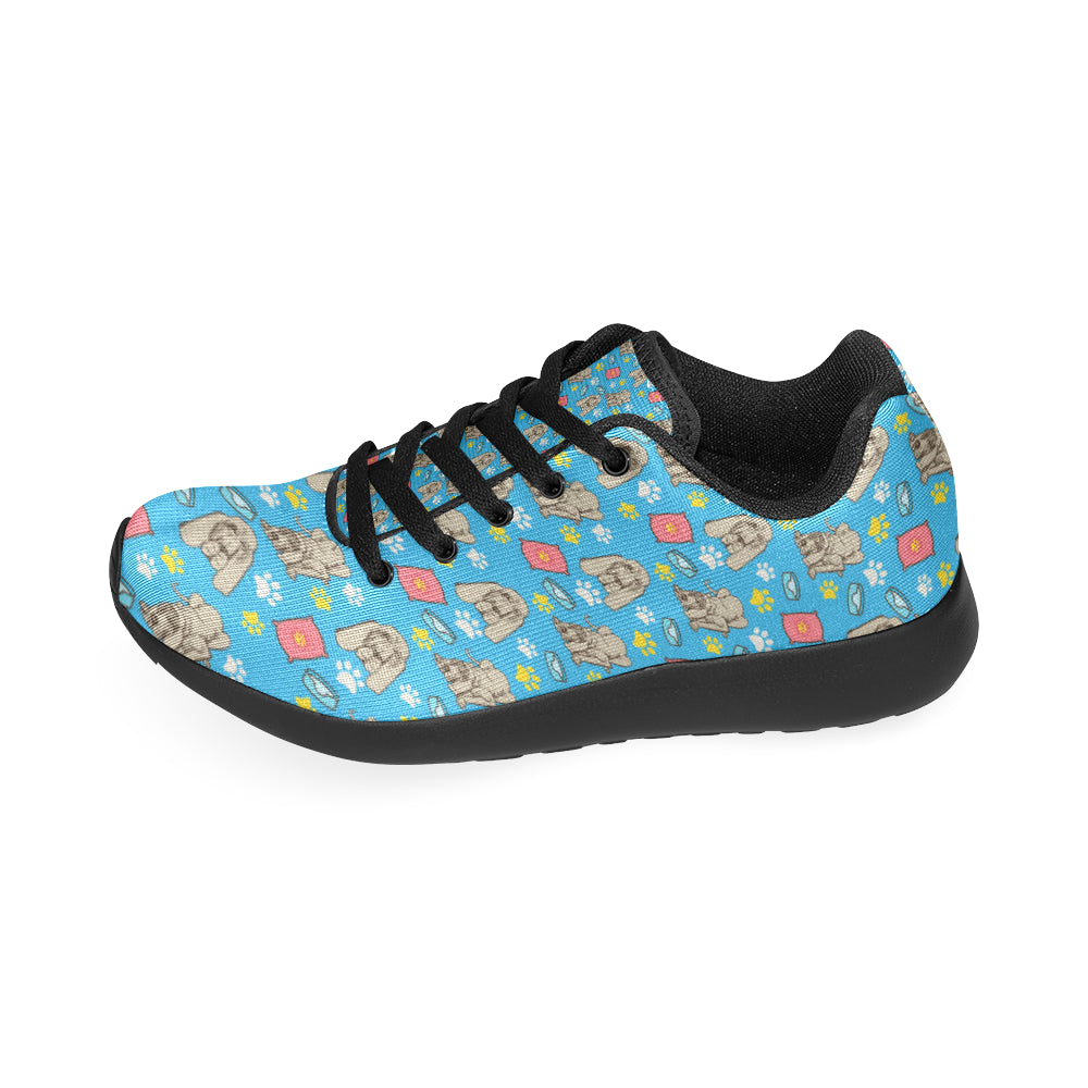 Bloodhound Pattern Black Sneakers Size 13-15 for Men - TeeAmazing