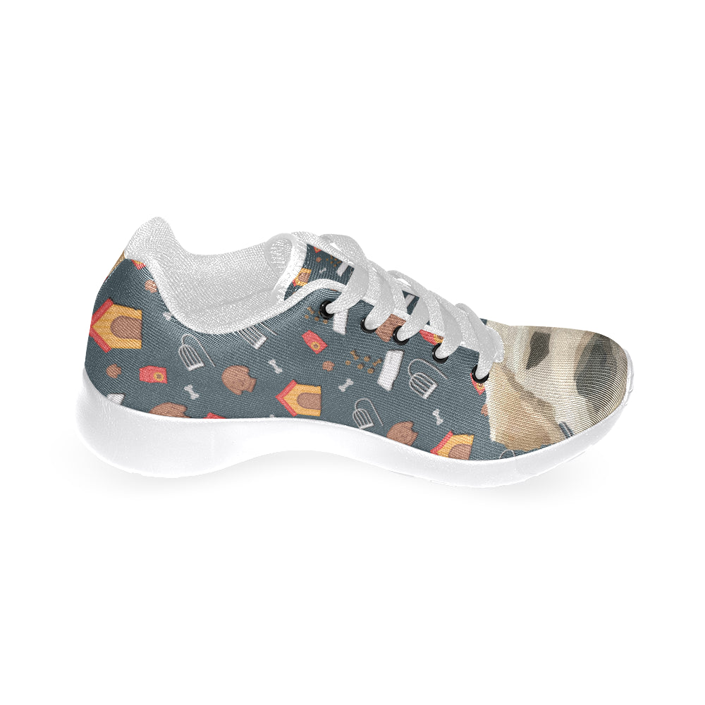 Goldador Dog White Sneakers for Women - TeeAmazing