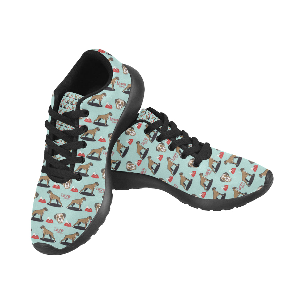 Boxer Pattern Black Sneakers for Men - TeeAmazing